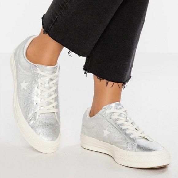Star Metallic Silver Sneakers | Poshmark